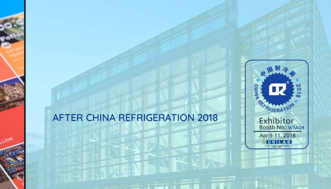unilab heat transfer software blog AFTER CHINA REFRIGERATION