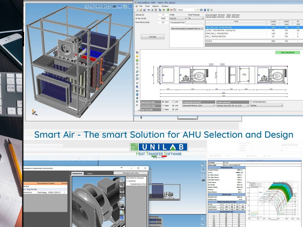 Smart Air The Smart Solution For Ahu Selection And Design Unilab Heat Transfer Software