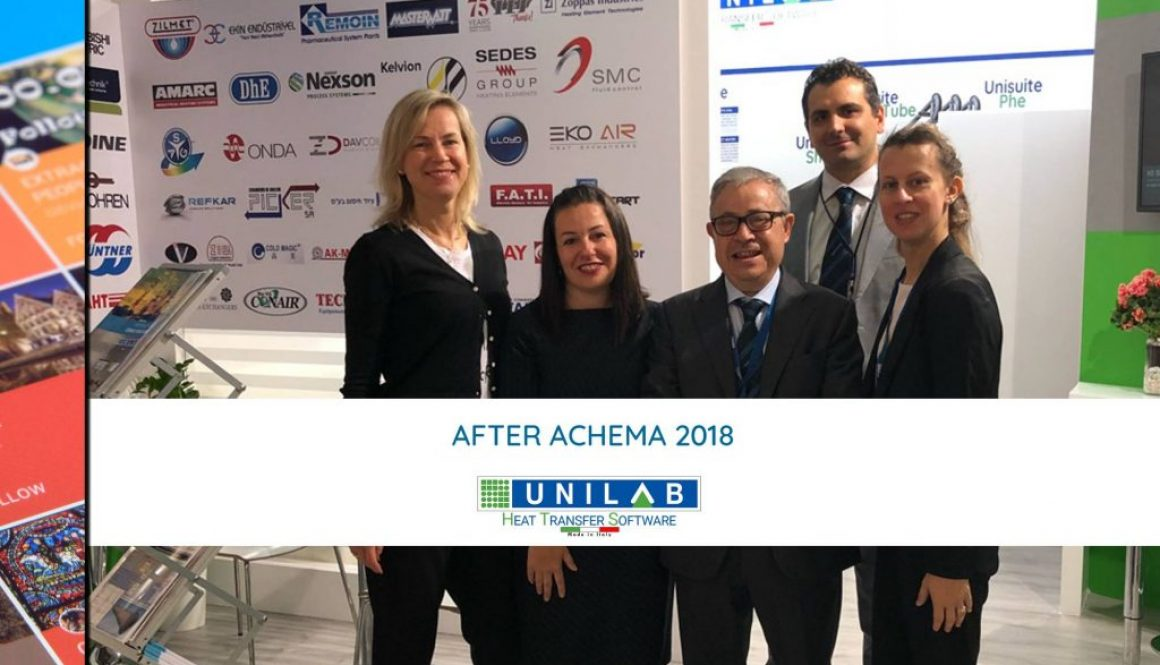 unilab heat transfer software blog AFTER ACHEMA 2018