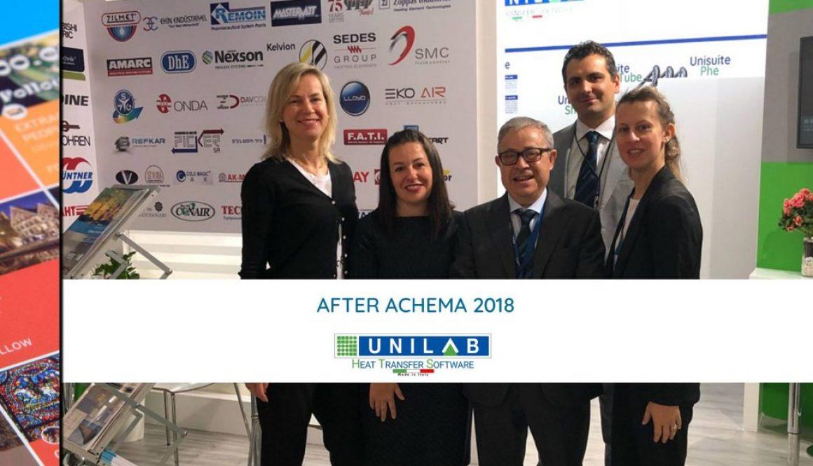 unilab heat transfer software blog AFTER ACHEMA 2018